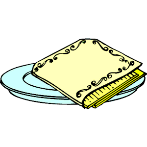 Napkin clipart square. Cliparts zone