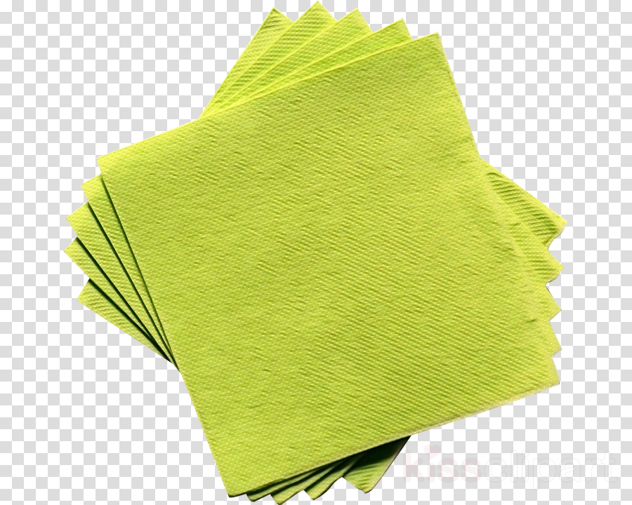 Green leaf grass . Napkin clipart yellow