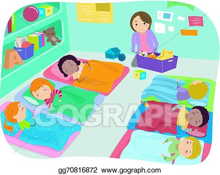Naptime clipart. Vector nap time preschool