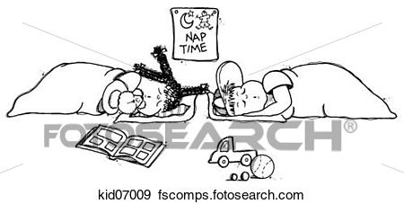 Nap time black and. Naptime clipart child's
