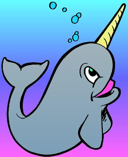 Narwhals clip art panda. Narwhal clipart