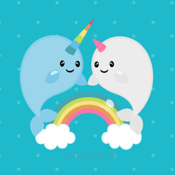By jessica sawyer design. Narwhal clipart