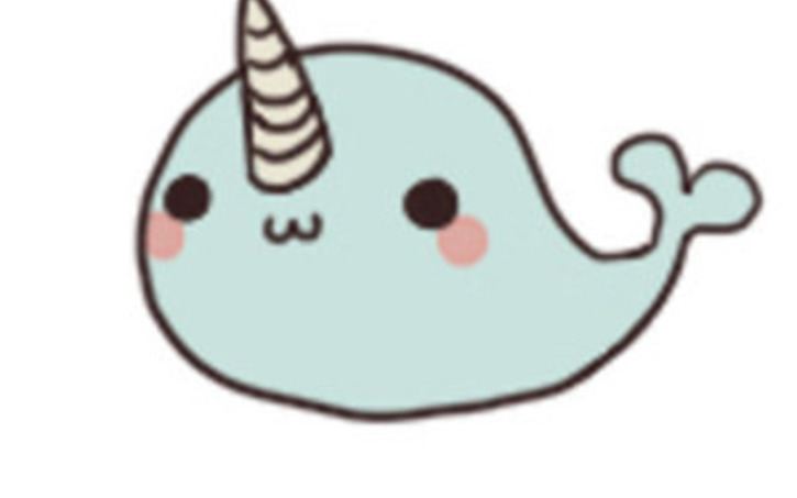 Narwhal clipart. Chibi pencil and in