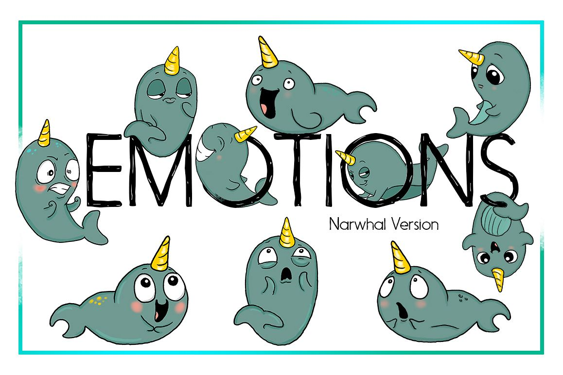 Narwhal clipart. Nautical sea cl design