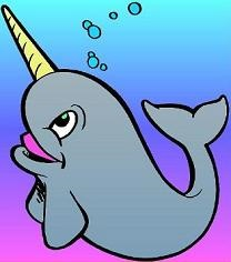 Narwhal clipart. Free cartoon