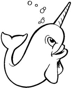 Narwhal clipart black and white. Free baby cliparts download