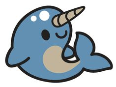 Free baby cliparts download. Narwhal clipart blue