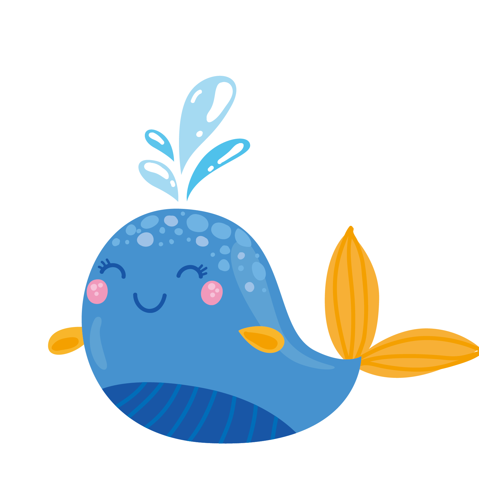 Narwhal clipart chocolate. Whale cartoon adobe illustrator