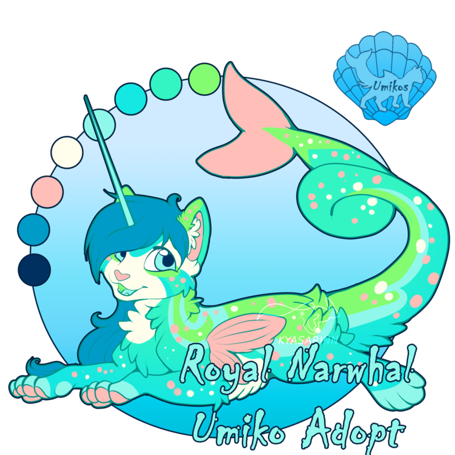 Narwhal clipart chocolate. Royal umiko auction closed