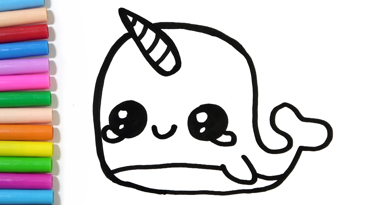 H ng d n. Narwhal clipart easy draw