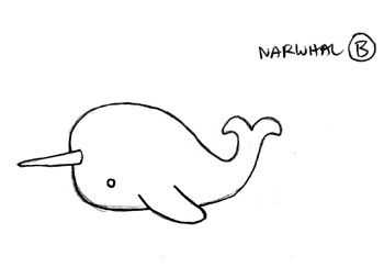 Narwhal clipart easy draw. I love simplicity my