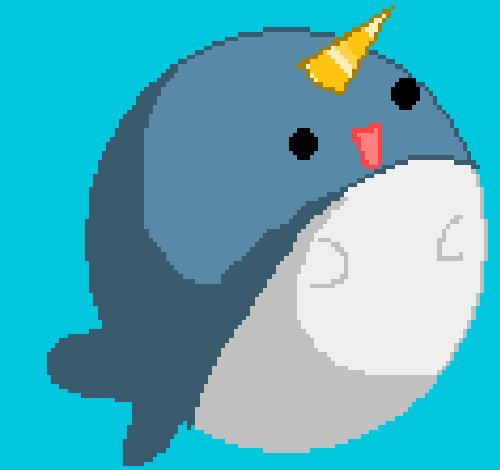 Narwhal clipart fat. Free cliparts download clip