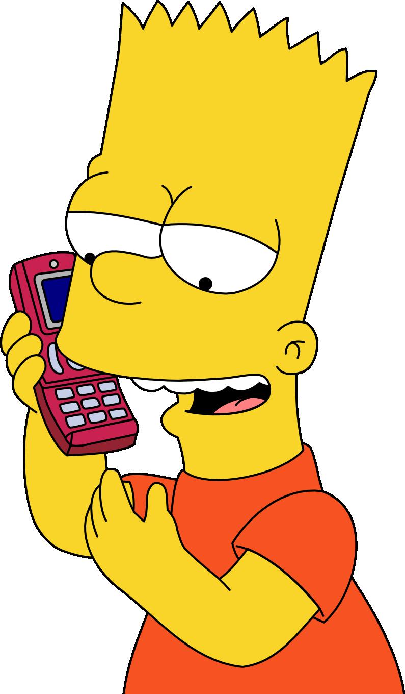 Bart simpson prank calls. Narwhal clipart futurama