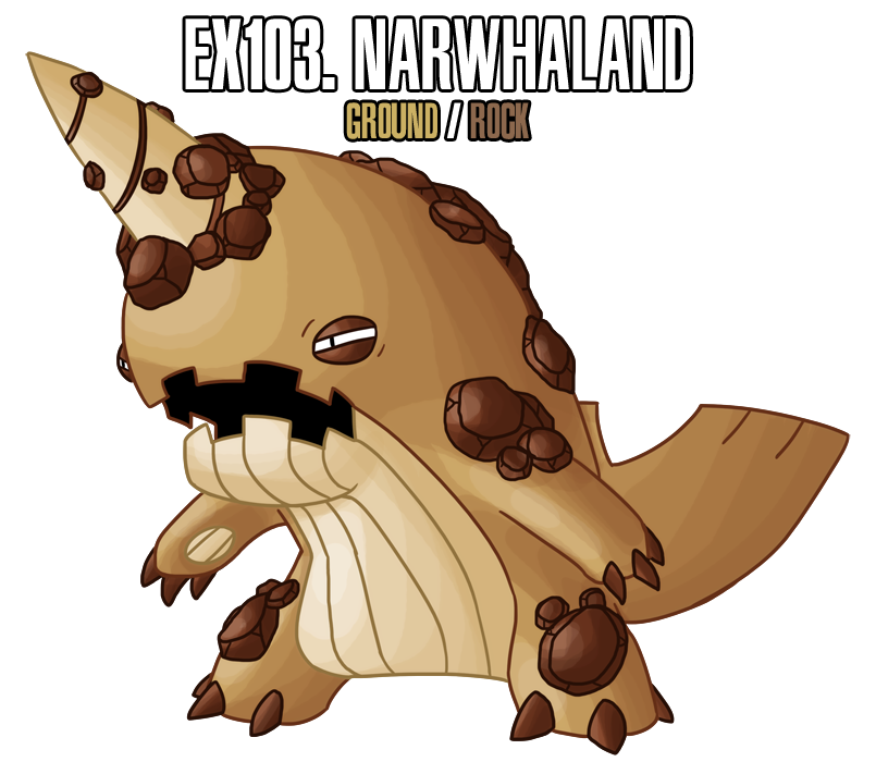 Fakemon ex by drcrafty. Narwhal clipart house owner ross