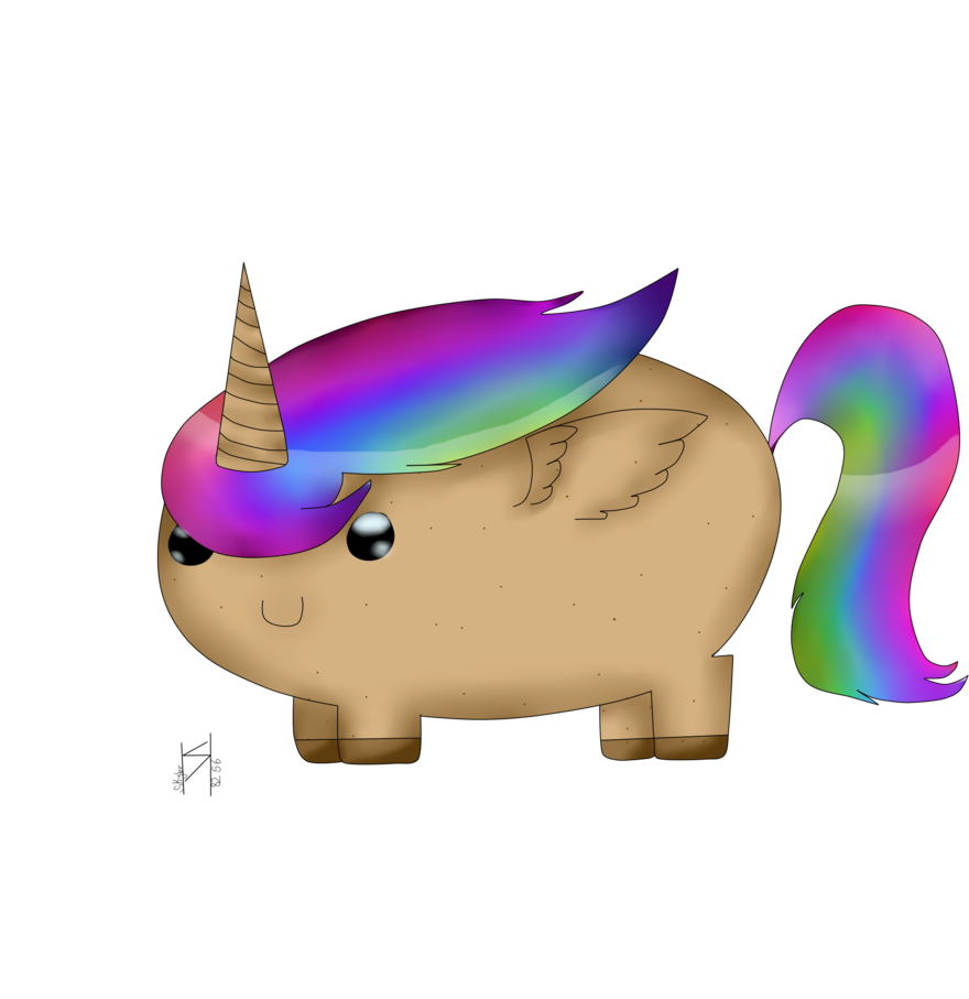 Magical flying potato unicorn. Narwhal clipart house owner ross