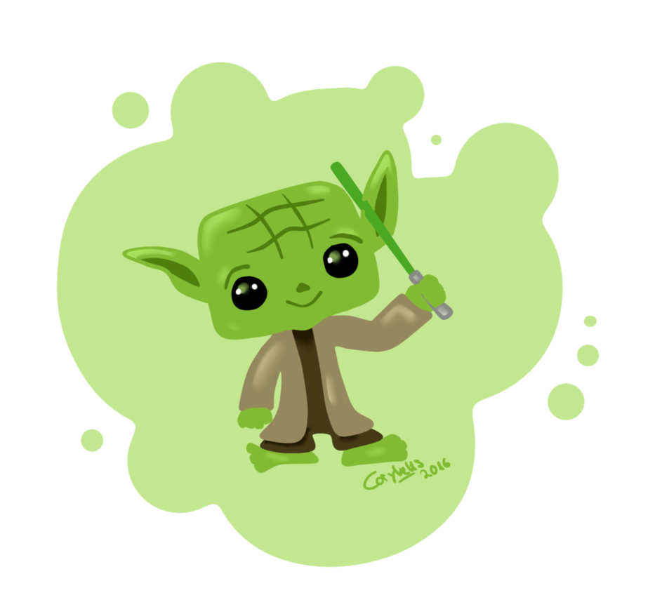 Narwhal clipart lightsaber. Yoda star wars by