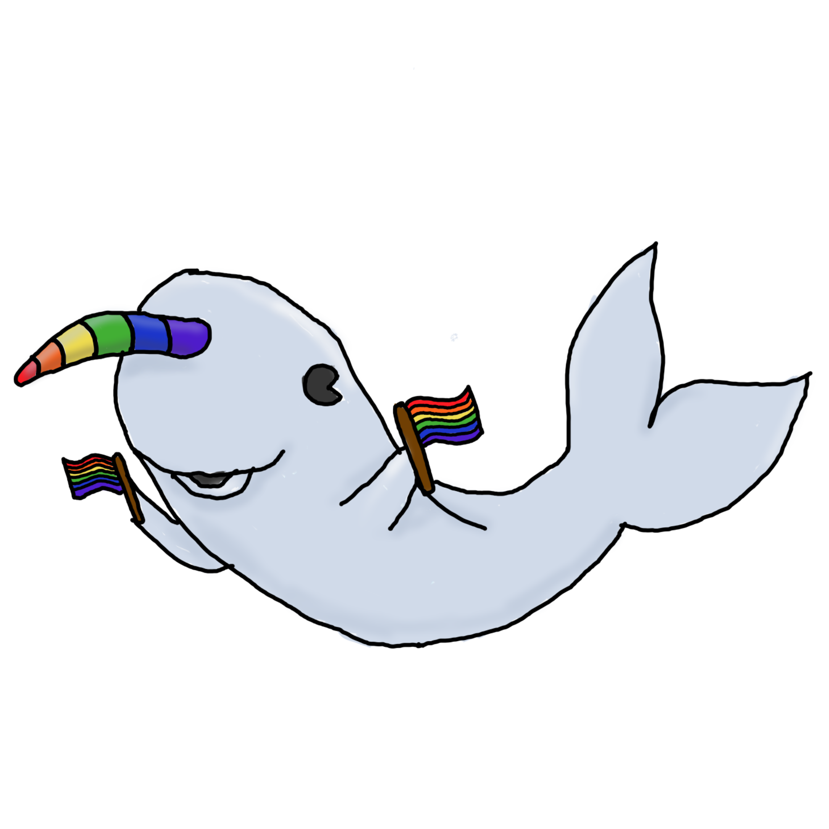 Digital art c t. Narwhal clipart male
