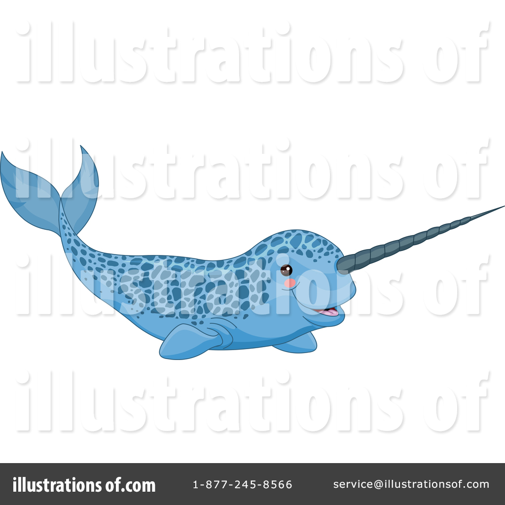 Narwhal clipart male. Illustration by pushkin