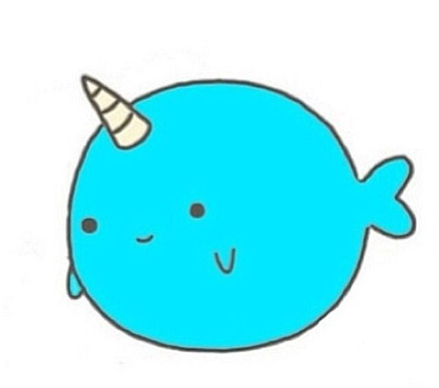 Narwhal clipart narwhal whale. Cartoon ideas about tattoo