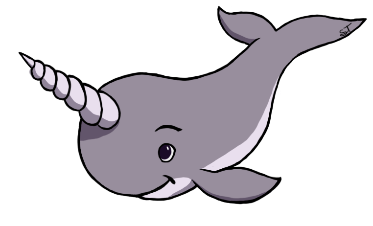 Just a little by. Narwhal clipart narwhale