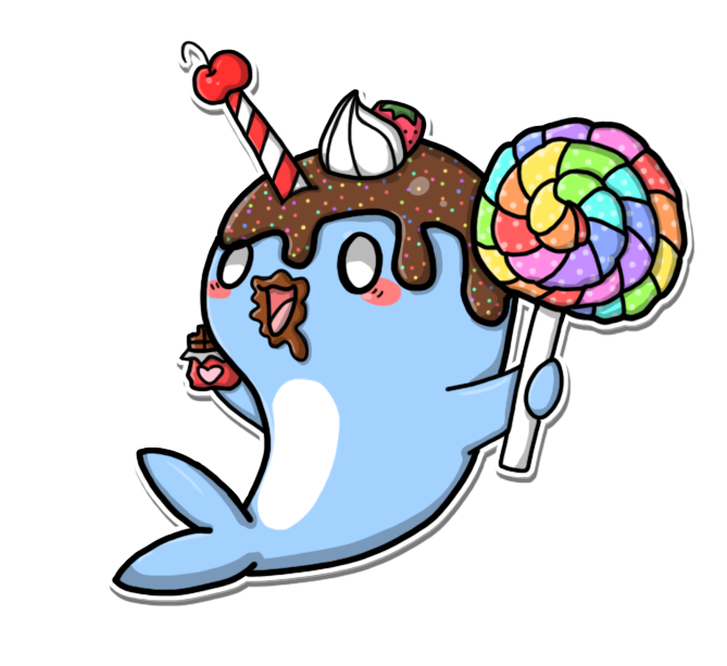 Crazy v by crystal. Narwhal clipart narwhale