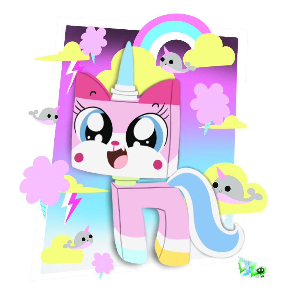 Narwhal clipart president. Unikitty by cloudyzu on