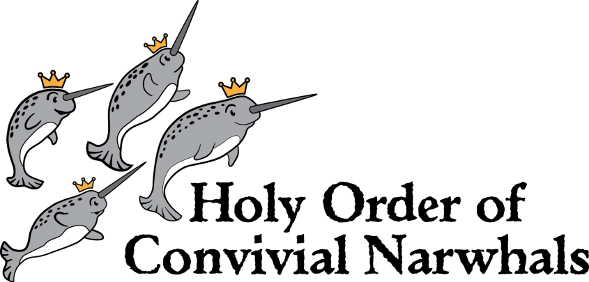 Narwhal clipart sir. Holy order of convivial