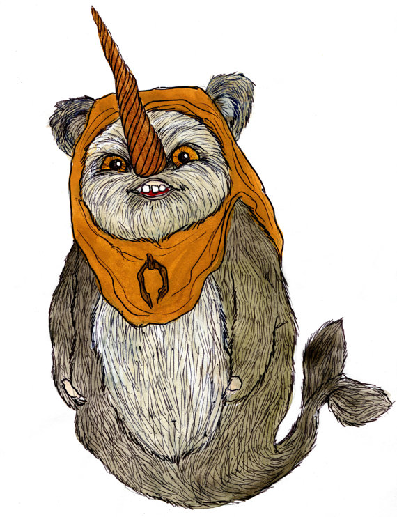 Ewok a long time. Narwhal clipart star wars