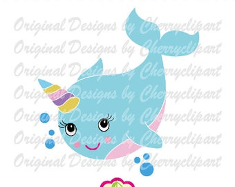 narwhal clipart svg