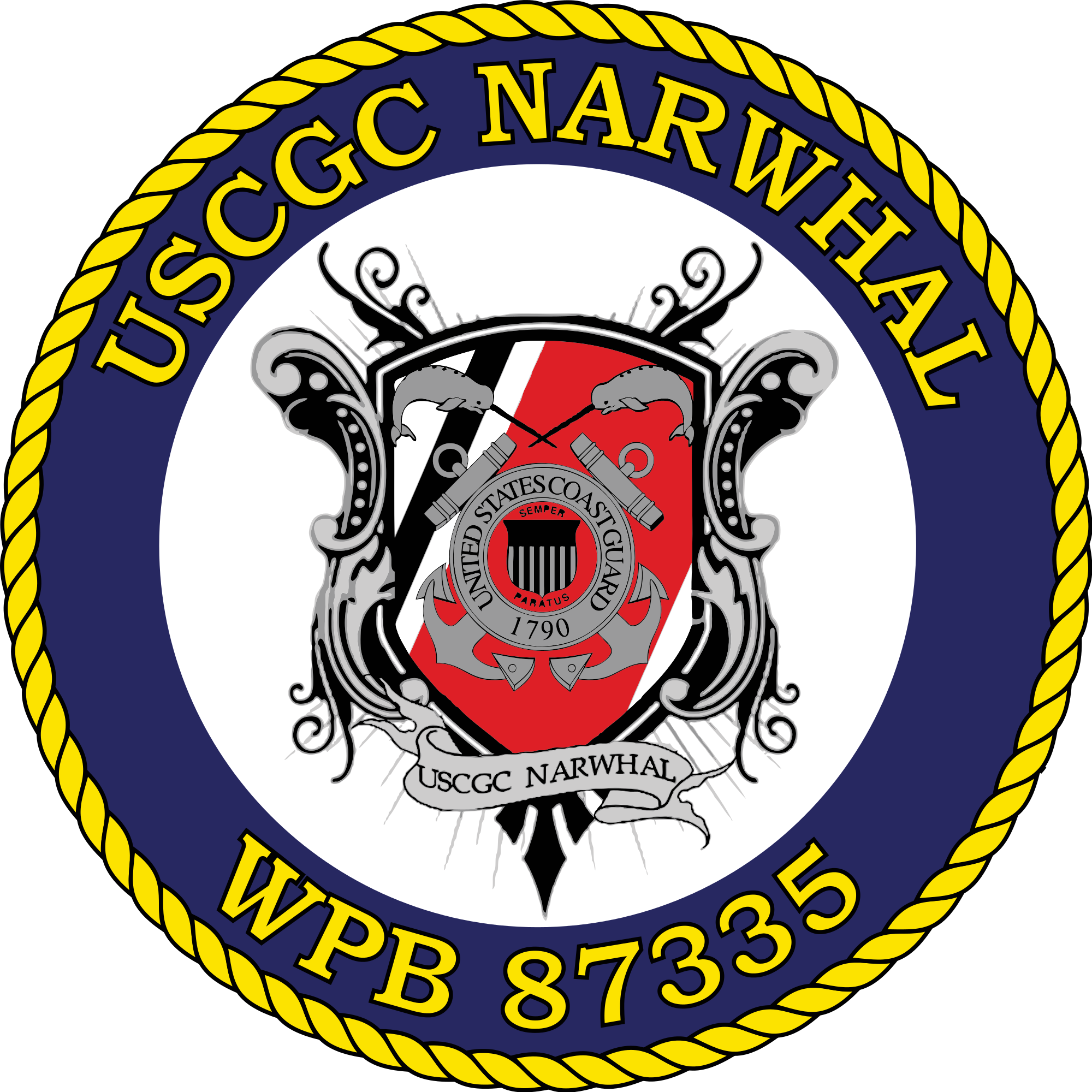 Narwhal clipart svg. File uscgc wikimedia commons