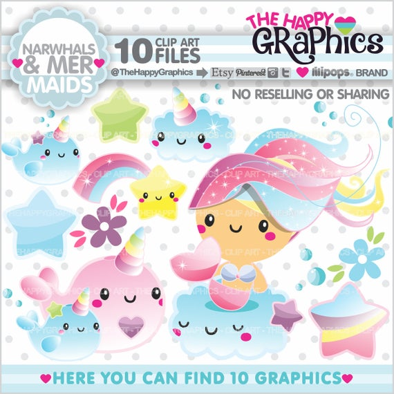 Graphics commercial use . Narwhal clipart unicorn fish