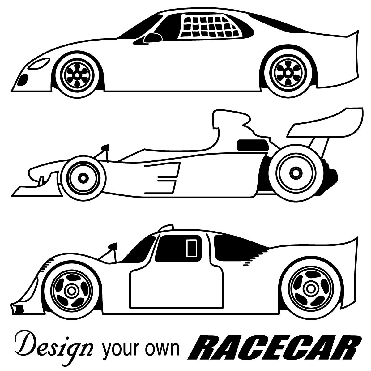 Nascar clipart book. Black and white racing