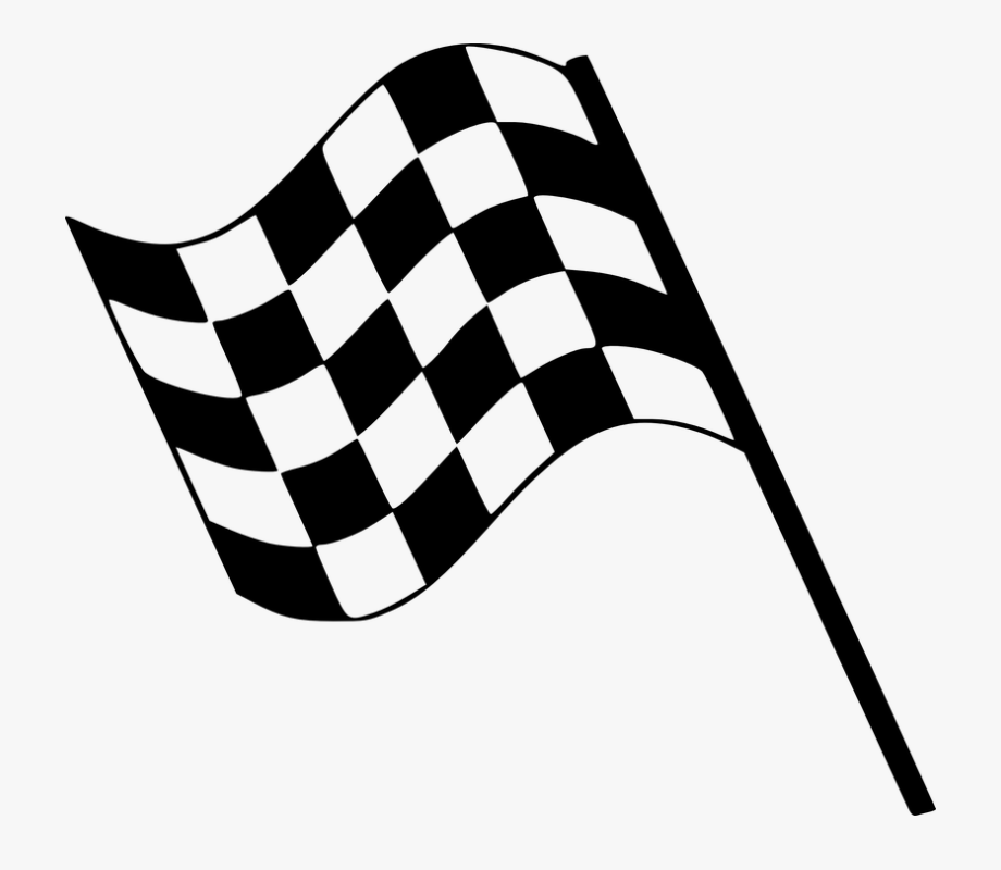 Race clipart clip art. Checkered flag finish line