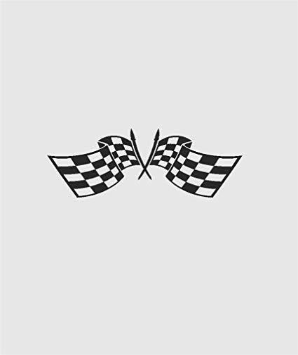 Nascar clipart crossed flag. Amazon com checkered race