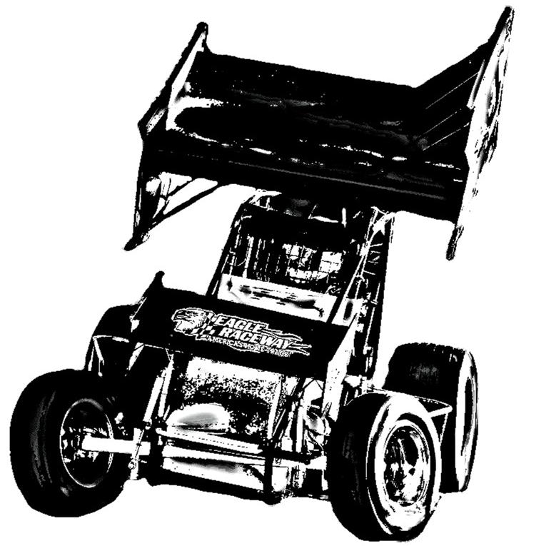 Nascar clipart drawing. Sprint car racing monster