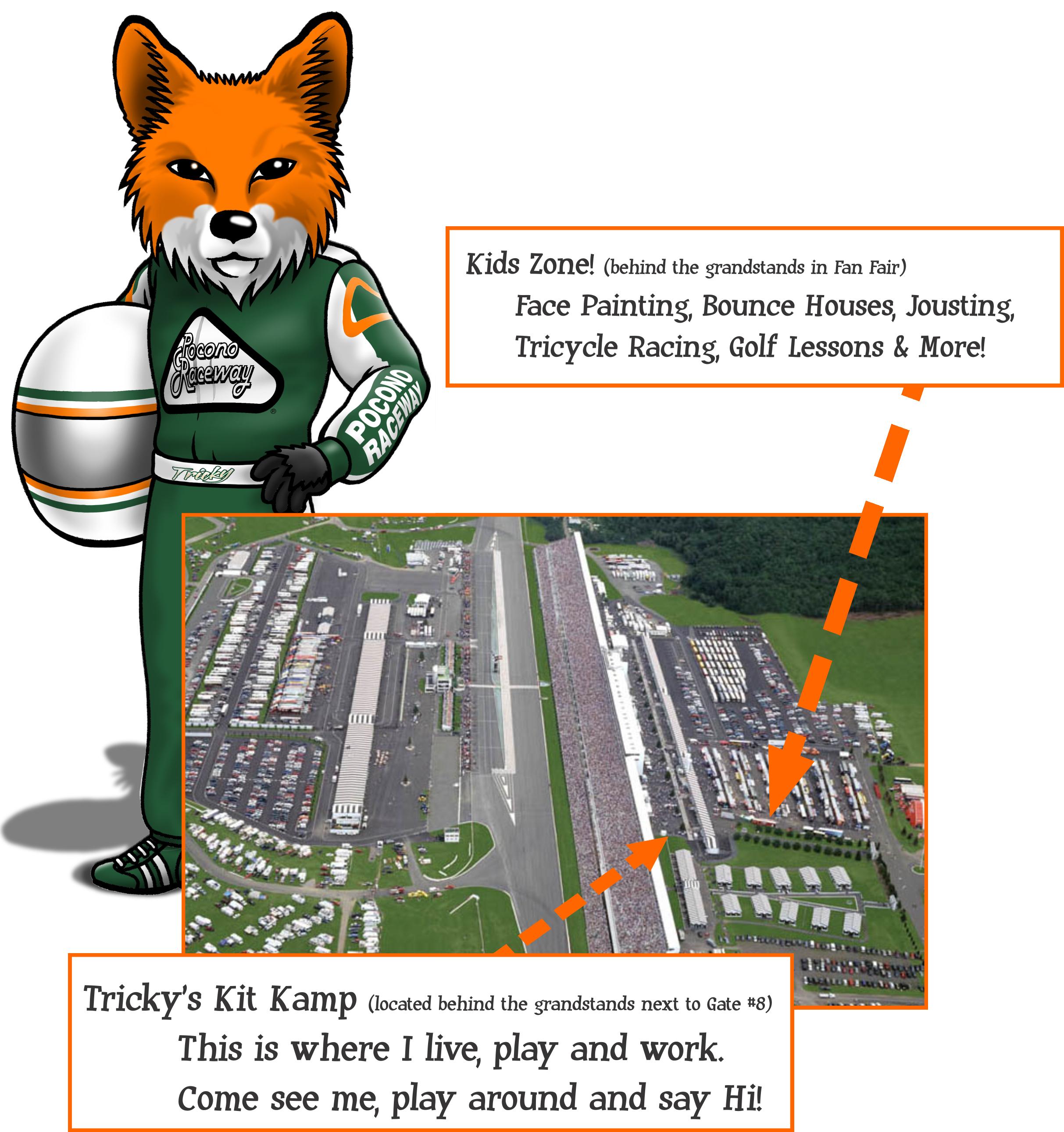 Pocono raceway kids zone. Nascar clipart grandstands