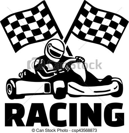 Nascar clipart icon. Goal flags and kart