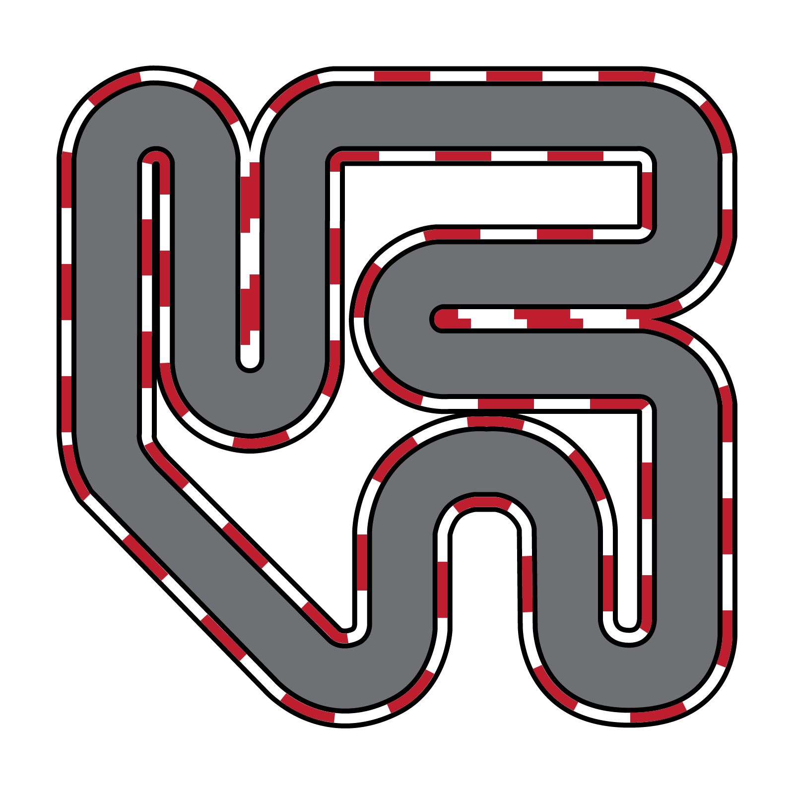 Kart race circuit clip. Track clipart racing track