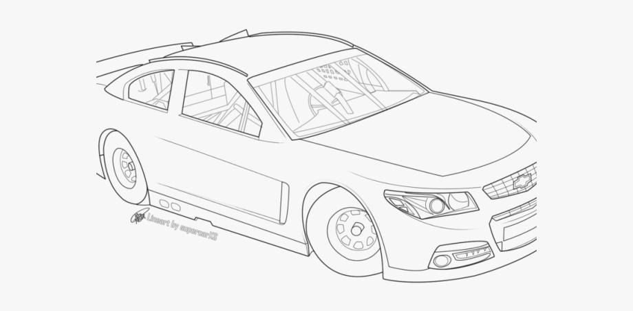 Nascar clipart sketch. Drawn race car drawing