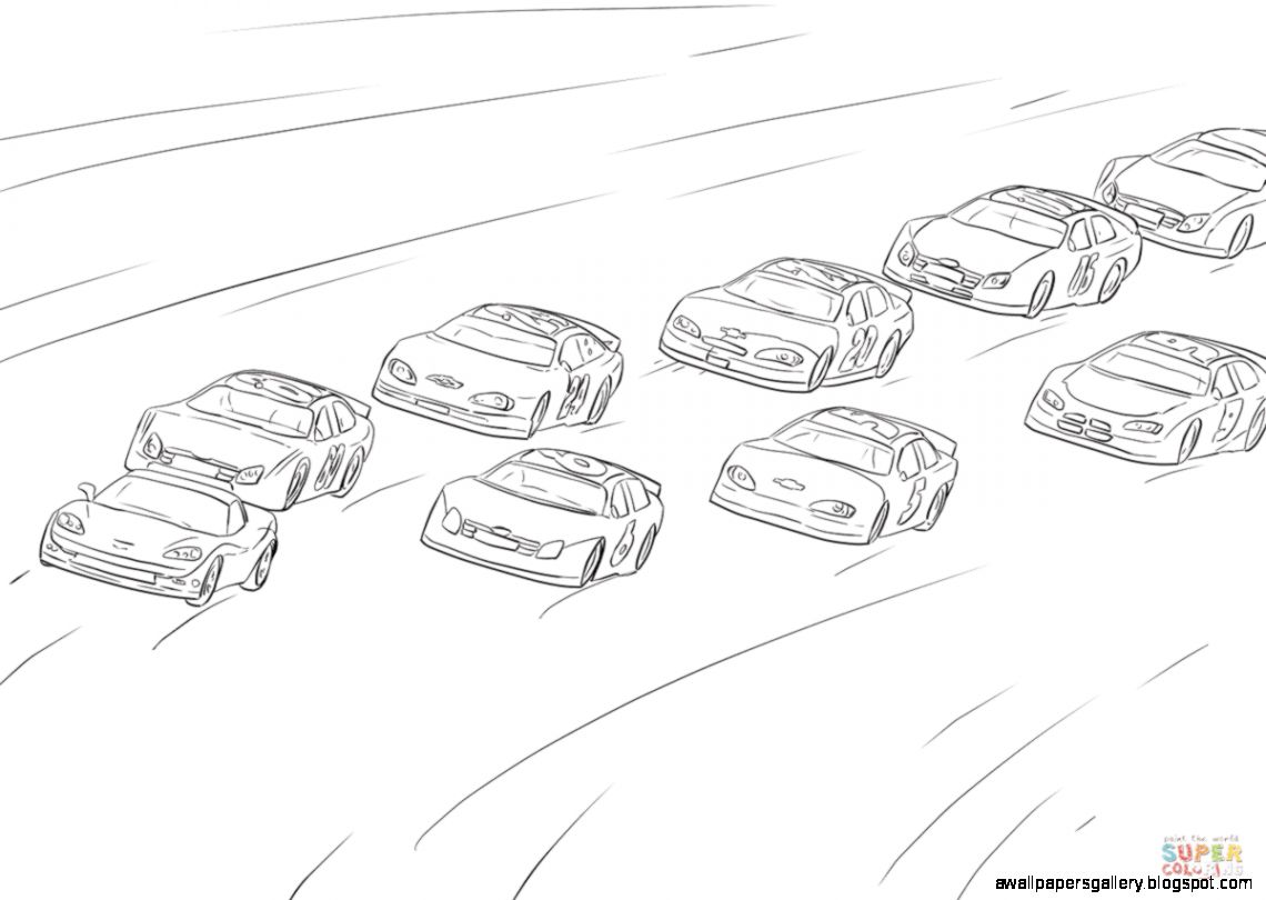 Side view drawing wallpapers. Nascar clipart sketch