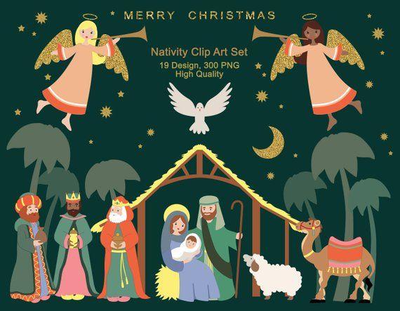 Nativity clipart advent. Religious christmas holiday clip