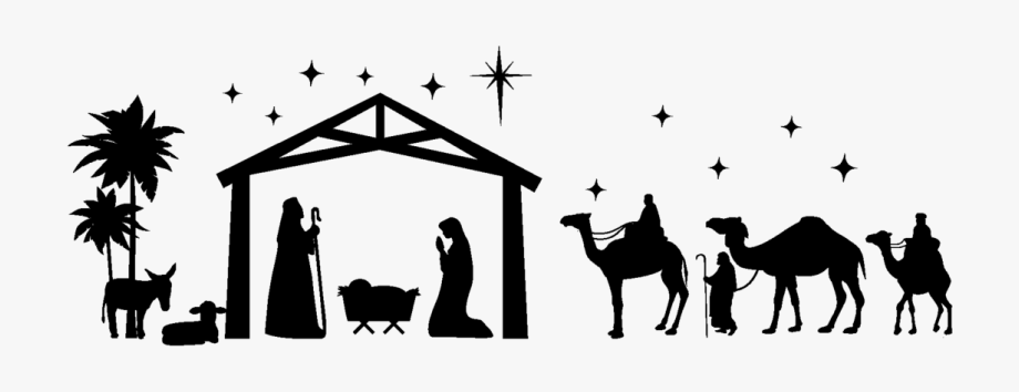 Christmas new year mass. Nativity clipart advent