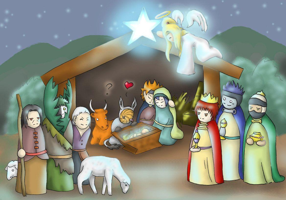Scene by nyrata deviantart. Nativity clipart akatsuki