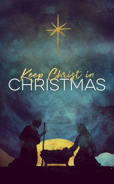 Keep christ in christmas. Nativity clipart bulletin covers