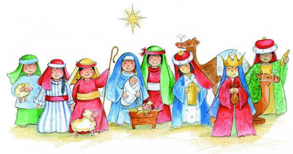 Pin on art of. Nativity clipart children's
