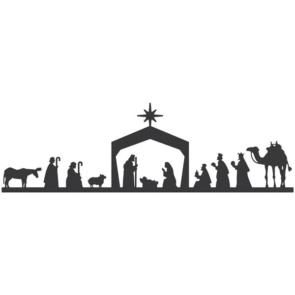Black and white download. Nativity clipart copyright free