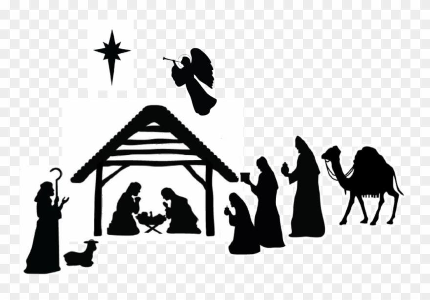 Jan x black and. Nativity clipart epiphany