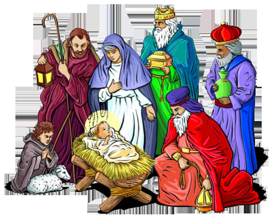 Of jesus christmas scene. Nativity clipart holy family