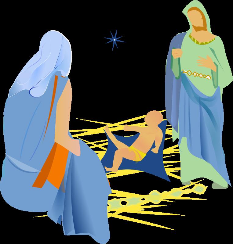 Medium image png . Nativity clipart joseph mary