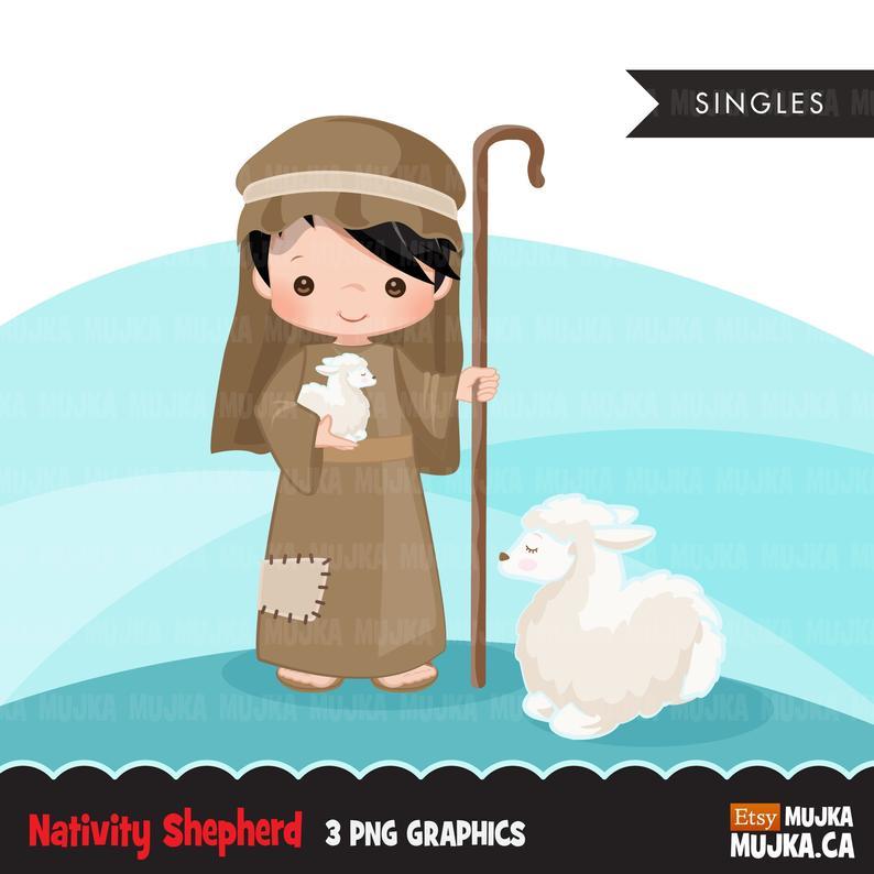 Cute religious illustration bible. Nativity clipart nativity sheep
